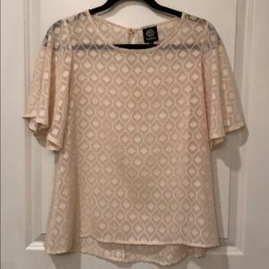 Textured Peach Top, Size Small